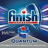 Finish Quantum Spülmaschinentabs, phosphatfrei – Geschirrspültabs mit Power Gel für strahlend...