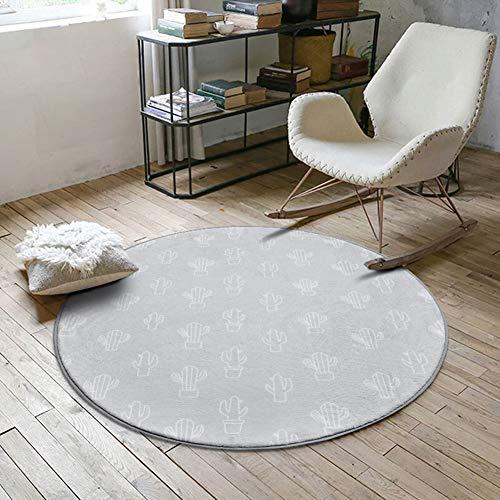 ZAIPP ronde zachte anti-slip gebied tapijten, binnen fluweel geometrisch patroon tapijt schommelstoel opknoping ei hangstoel vloer mat tapijt tapijt