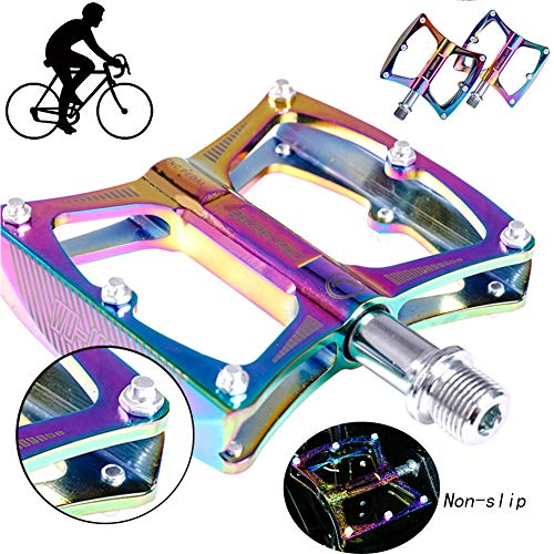 NINI Coloridos Pedales de Bicicleta de montaña, Pedales de Bicicleta MTB ultraligeros,...