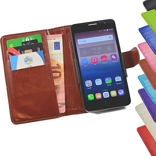 ikracase Tasche für ZTE Blade L7A Hülle Cover Hülle Etui Handy-Tasche Schutz-Hülle in Braun