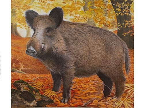 JVD Papierauflage Scheibenauflage Zielscheibe Tierauflage Wildschwein 90x83cm