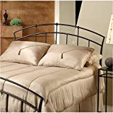 Hawthorne Collections Twin Metal Spindle Headboard in Dark Brown