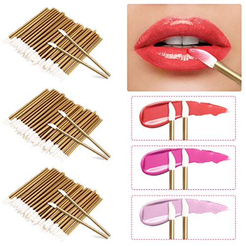 LATTCURE 300 Stück Einweg Lippenpinsel, Applikator Zauberstäbe Lippenapplikator einwegLippenstift Gloss Einweg Lippenbürsten Lippenstift Lip Gloss Pinsel Applikator Make-up Pinsel Tool Kits