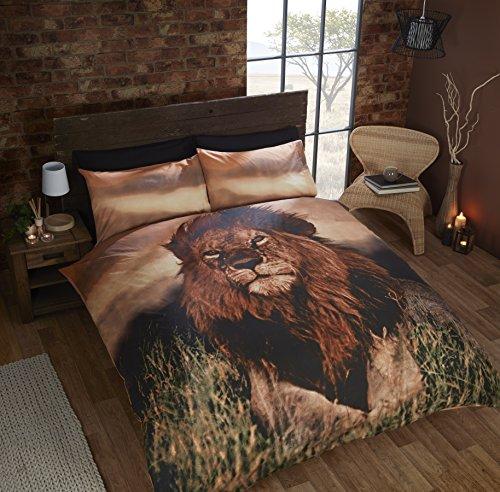 Rapport Aslan Lion Duvet Set, Multi-Colour, Double