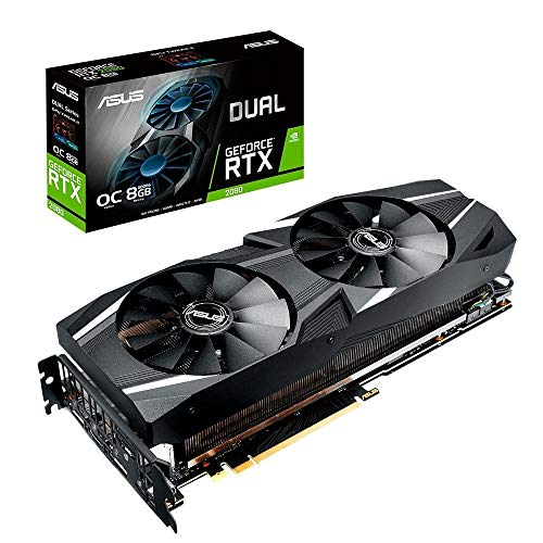 ASUS Dual GeForce RTX 2080 DirectX 12 8GB 256-Bit GDDR6 PCI Express 3.0 HDCP Ready SLI Support Video Card Model DUAL-RTX2080-8G-EVO