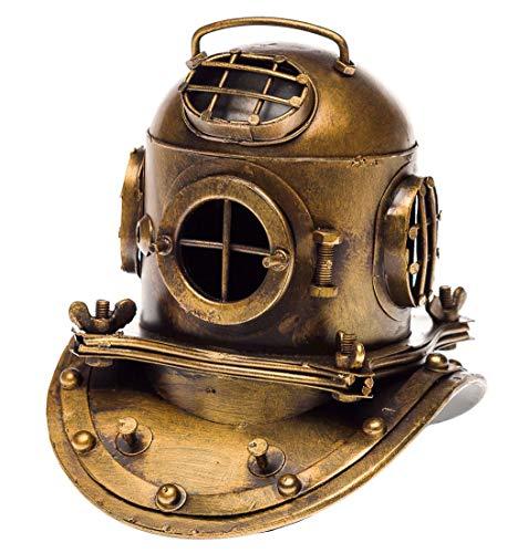 aubaho Taucherhelm Marine 18cm Tiefsee Taucherglocke Dekoration Helm Antik-Stil