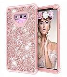 Dailylux Note 9 Funda,Galaxy Note 9 Funda Glitter Bling Funda Protectora Shiny Girl Hard Case para...
