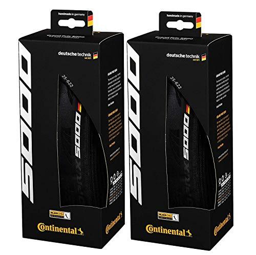 Continental Grand Prix 5000 700 X 25 Black-BW + Black Chili 2-Count