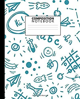 Composition Notebook: Funky School Play Time Blank Wide Ruled Notebook & Journal for Boys & Girls - Wide Lined Diary for N...
