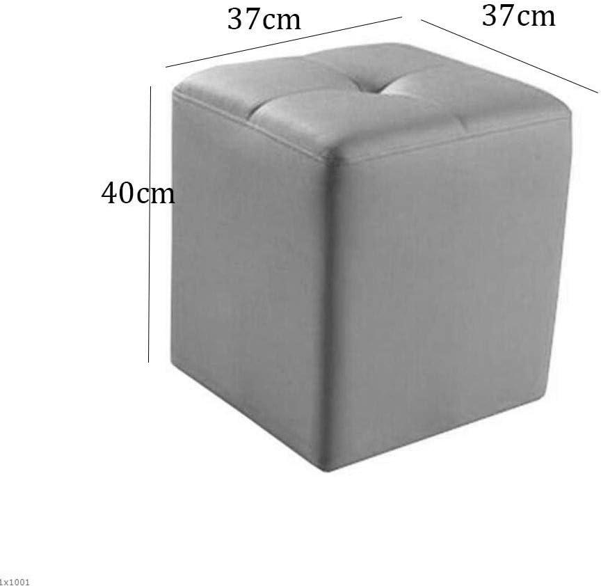 YVX Faux Cuir Puffs Repose-Pieds Cube Table à thé Canapé Tabouret Salon Chambre Banc à Chaussures et siège (Couleur: 08) 15