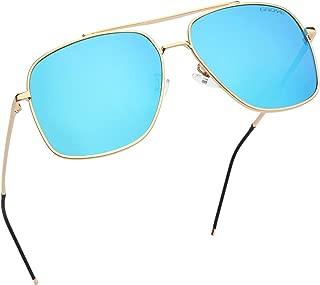 Gaoye Retro Polarized Aviator Sunglasses for Men Women,Lightweight Steel Frame UV400 Protection Mirrored Lens - GY73s