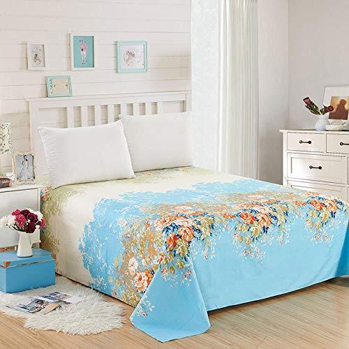 QIAOBAOBAO Hautfreundliche Bettwäsche Einfache Dicke Bettdecke-Alice Blue_90 * 230Cm