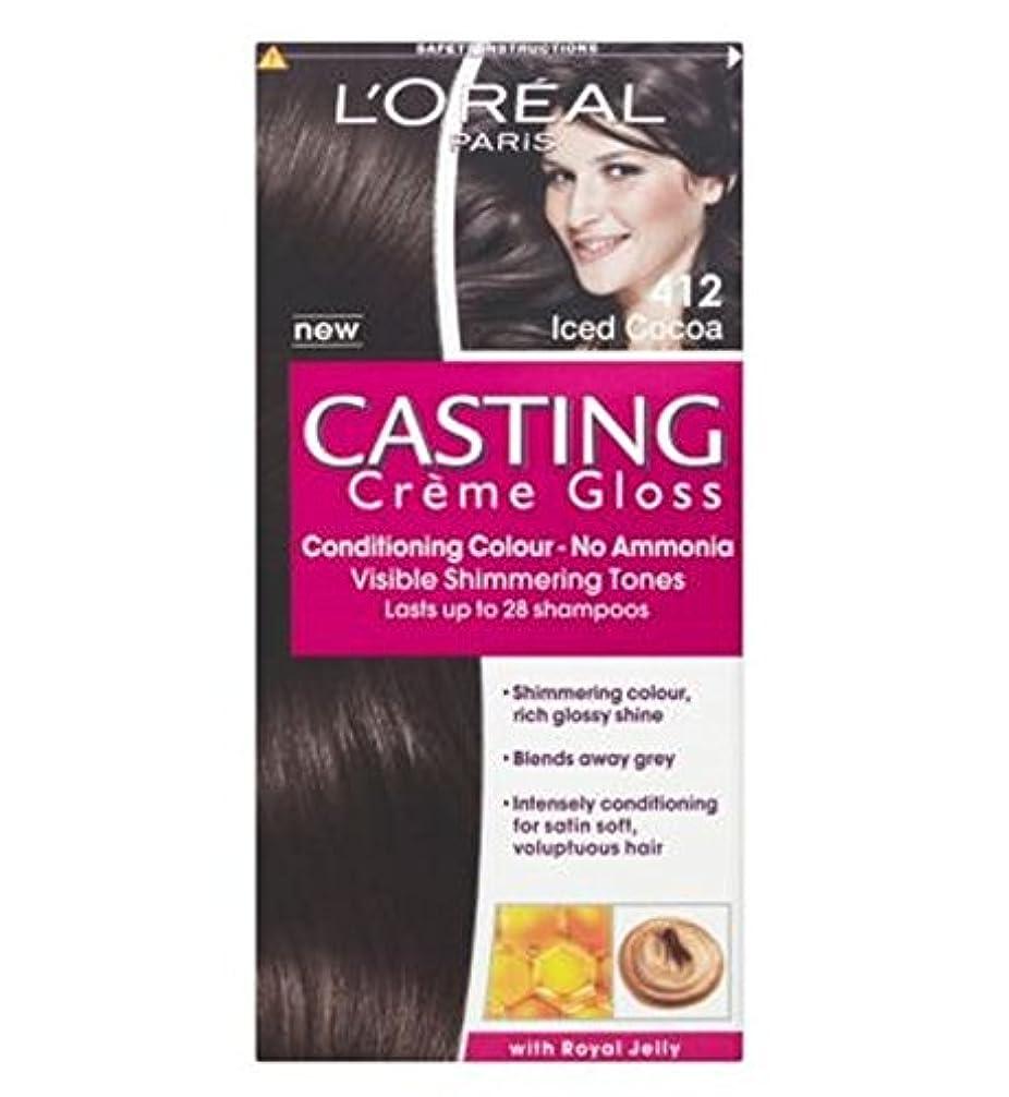 目を覚ますダイエット現代412アイスココアを鋳造L'Oreall (L'Oreal) (x2) - L'Oreall Casting 412 Iced Cocoa (Pack of 2) [並行輸入品]
