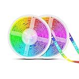 TASMOR Tira LED Música 10M 300LEDs, RGB 5050 Tira LED Iluminación Impermeable Música Activada con Controlador, IP65 Luces de...