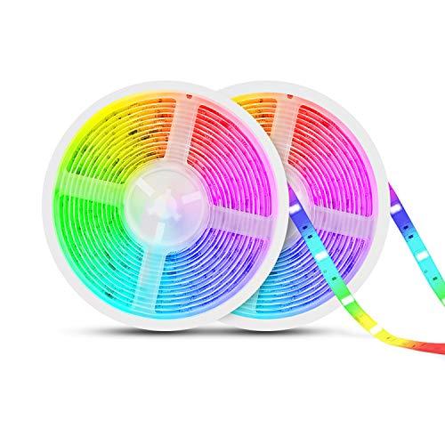 TASMOR Tira LED Música 10M 300LEDs, RGB 5050 Tira LED Iluminación Impermeable Música Activada con Controlador, IP65 Luces...