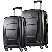 Samsonite Winfield 2 Hardside Expandable Luggage with Spinner Wheels 2-Piece Set (20/24) (Brushed Anthracite)