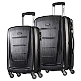 Samsonite Winfield 2 Hardside <span class='highlight'><span class='highlight'>Expandable</span></span> Luggage with Spinner Wheels, Brushed Anthracite, Checked-Large 28-Inch