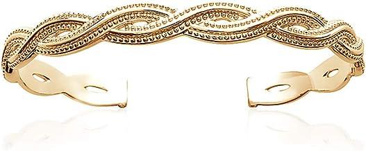 Bracelet Jonc Femme Plaqué Or - Bijoux Femme Idée Cadeau