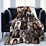DAIMAIZHANG Vampire Damon Stefan Salvatore Blanket Throw Vampire Diaries Elena Brothers Love Poster College Soft Bed Sofa Blanket Vampire Merch Fans Gifts Home Ornaments Decorations 60'x50'