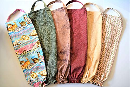 One Plastic Bag Holder,Your Choice: Retro Ivy Pink,Swirly Browns,Green Vines,Kitty Cats or Flowers