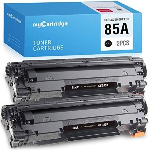 MYCARTRIDGE Compatible Toner Cartridge Replacement for HP CE285A 85A 285A Use with Laserjet P1102w M1212nf P1100 P1102 M1217nfw M1132 2 Pack Black