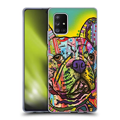 Head Case Designs Officially Licensed Dean Russo French Bulldog Dogs Soft Gel Case Compatible with Samsung Galaxy A71 5G (2020)