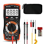 Digital Multimeter TRMS 6000 Counts YF-770S Avometer Voltmeter Volt Ohm Amp Meter, Manual and Auto Ranging Voltage Tester with Continuity, Diode,Temp,Hz,Capacitance,NCV