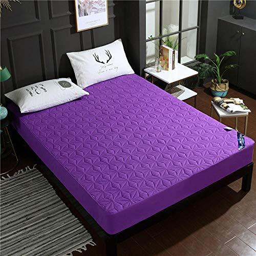 RESUXI matratzenauflage wasserdicht 90x410,Bettzeug gebürstet wasserdicht Gesteppte Bettdecke, wasserdicht rutschfeste Anti-Milben-Matratzenbezug-E_90 * 200 cm