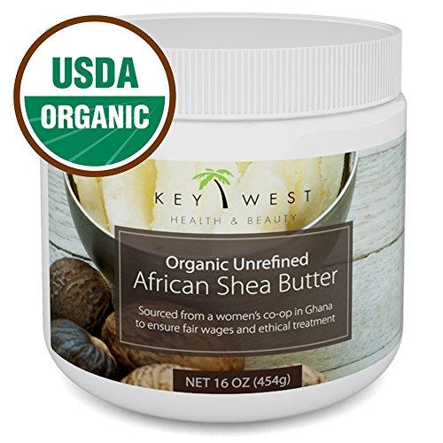 Shea Butter Organic African Raw - 16 oz & USDA Certified Organic