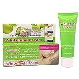 Zarupeng Underarm Whitening Cream, Natürliche Inhaltsstoffe, Skin Lightening Cream für Achselhöhle/Knie/Unterarm/inneren Oberschenkel (One Size, Grün)