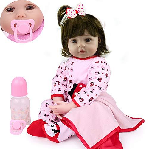 CHAREX Reborn Baby Dolls Girls, 22inch Realistic Toddler Baby Dolls Handmade Soft Vinyl Newborn Baby Gifts/Toys for Kids Age 3+