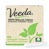 Naturalena Brands UK Limited Veeda Lot de 16 tampons réguliers 100% coton naturel avec applicateur...