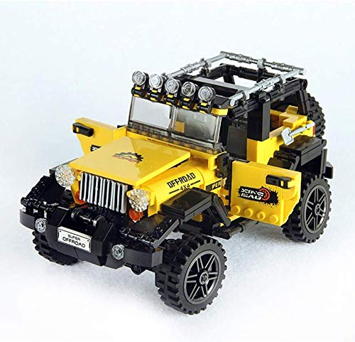 ZXF5 Model Building Blocks 610 Pcs Off-Road Adventure Set Building Blocks Car Series Building Blocks DIY Educational Brick Children Educational Toys Gifts