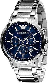 Armani Men's Emporio Stainless Steel Blue Multi Functional Dial Bracelet Chronograph AR2448 , 2724329937905