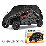 UTV Cover Heavy Waterproof Denier Oxford Cloth For Polaris RZR Yamaha Can-Am Defender Kawasaki Ranger Cover 4-6 Passenger Black