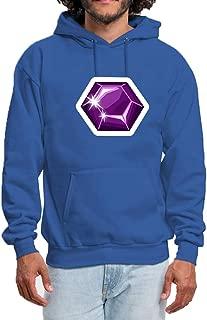 Mens Hoodie Pullover Sweatshirt Pockets Fashion Diamond Bling Print Outwear Winter Hooded