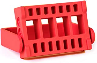 Lumcrissy Nail Drill Bits Holder 16 Holes Stand Displayer Organizer Nail Art Manicure Box (Red)