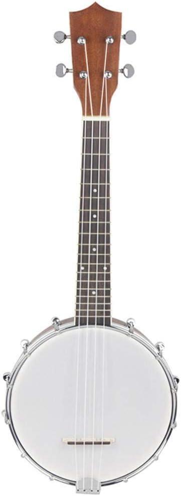 WH-IOE Acústica Guitarra Principiantes 1PCS 23 Pulgadas Sapele Banjo de Madera de Caoba 4 Cuerdas Banjolele Tamaño del Concierto Mate Ukulele Nylon Cuerdas de Que los niños para Principiantes