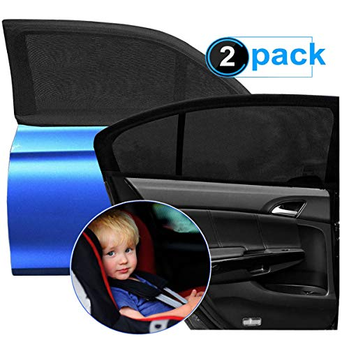 Goosky Car Window Shades for Baby, Car Sun Shades For Kids UV Sun Protection for Adults Pets, Car Blinds Fits Most Vehicles (2Pack)