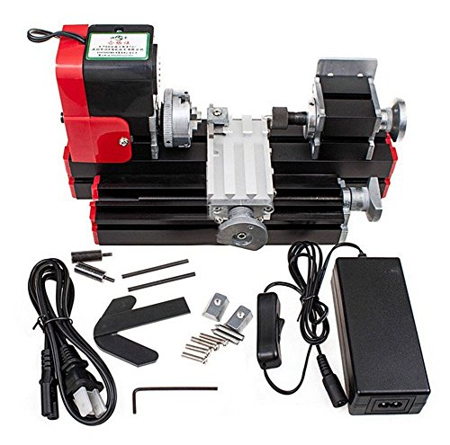 Best Deals! Update Lathe machine Multi-function DC 12V 24W DIY Miniature Metal Machine 2000 rpm rev/...