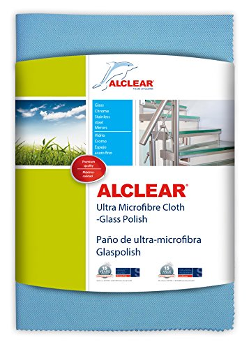 ALCLEAR 820051UM - Panno in ultramicrofibra per vetri e finestre, 70 x 50 cm, Colore Blu