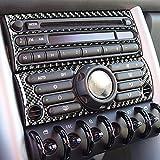 Para BMW Mini Cooper Hatch One R50 R53 2002-2004 pegatinas de fibra de carbono aire acondicionado interruptor de desempañamiento panel de ventilación interior CD multimedia botón cubierta (tipo A)