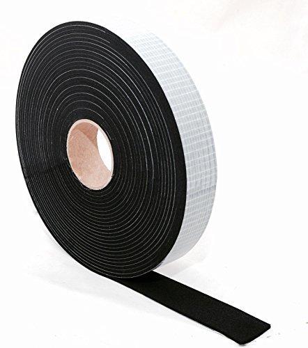 EPDM Zellkautschuk Dichtungsband einseitig, selbstklebend Moosgummi - 10m je Rolle- Breite 30mm x Dicke 2mm (30x2) Premium-Qualität mit Geld-zurück-Garantie
