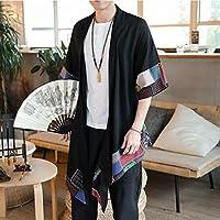 日本の着物カーディガン男性羽織浴衣男性侍衣装服着物ジャケットメンズ着物シャツ浴衣羽織