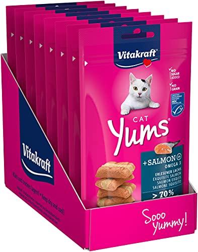 Vitakraft Cat Yums Saumon - Lot de 9 Paquets