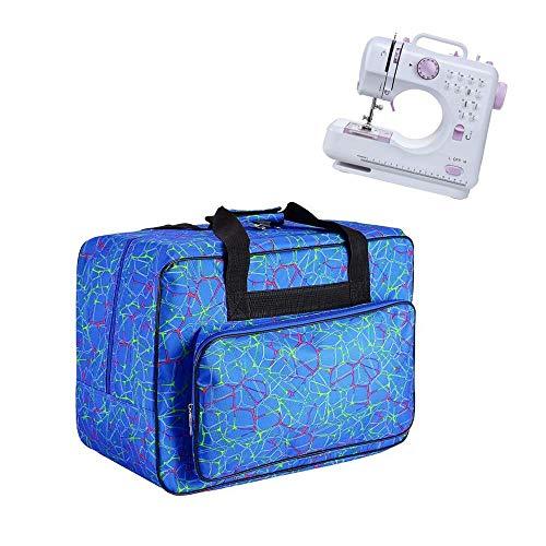 JanTeelGO Borsa per Macchina da Cucire, Borsa di trasporto universale in nylon, custodia di trasporto universale imbottita per bagagli con tasche e maniglie (Blu)
