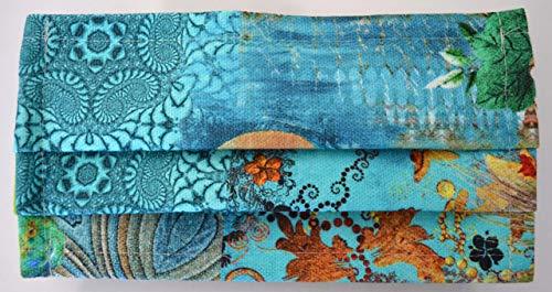 Preisvergleich Produktbild Jürgen Schleiß Konfektion 2 Stück waschbare Textil Maske Nasenmaske Mundmaske MNS versch.Farben / Privatgebrauch / Indi / blau