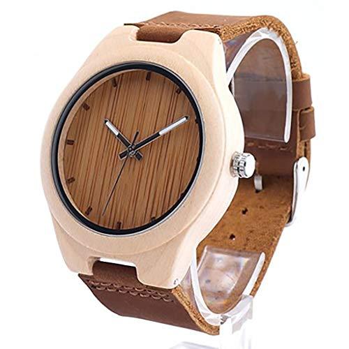 HJG Houten Horloge Handgemaakte Hot Koop Bamboe Lederen Riem mannen Horloge Box