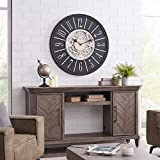 FirsTime & Co. Bronze Montevello Farmhouse Gears Clock, American Crafted, Oil Rubbed Bronze, 36 x 2 x 36 ,