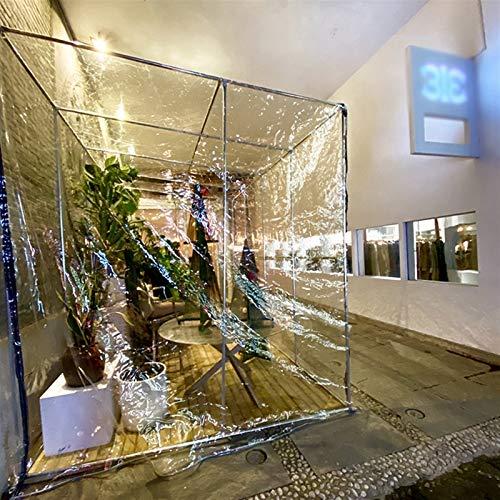 XJJUN Lona, Tela Transparente Impermeable, Cubierta De Camión, Ventana De Balcón De PVC A Prueba De Viento, con Perforaciones (Color : Claro, Size : 1.2x1.5m)